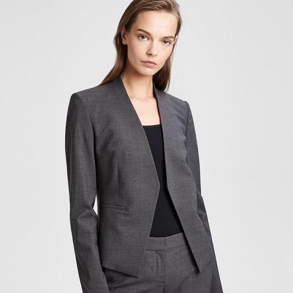 3ca083e166 Theory Charcoal Lanai Stretch Wool Open Jacket. M_5a90e5d22ae12f28d194fe61